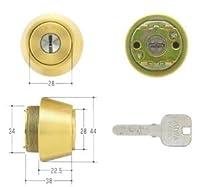 MIWA(美和ロック) JNシリンダー LSPタイプ TE22 鍵 交換 取替え MCY-190 MIWA KABA LSP/SWLSPゴールド色(BS)33~42mm