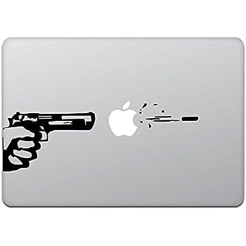 カインドストア MacBook Air / Pro マックブック ステッカー シール ガン アンド ビュレット Gun and Bullet M419
