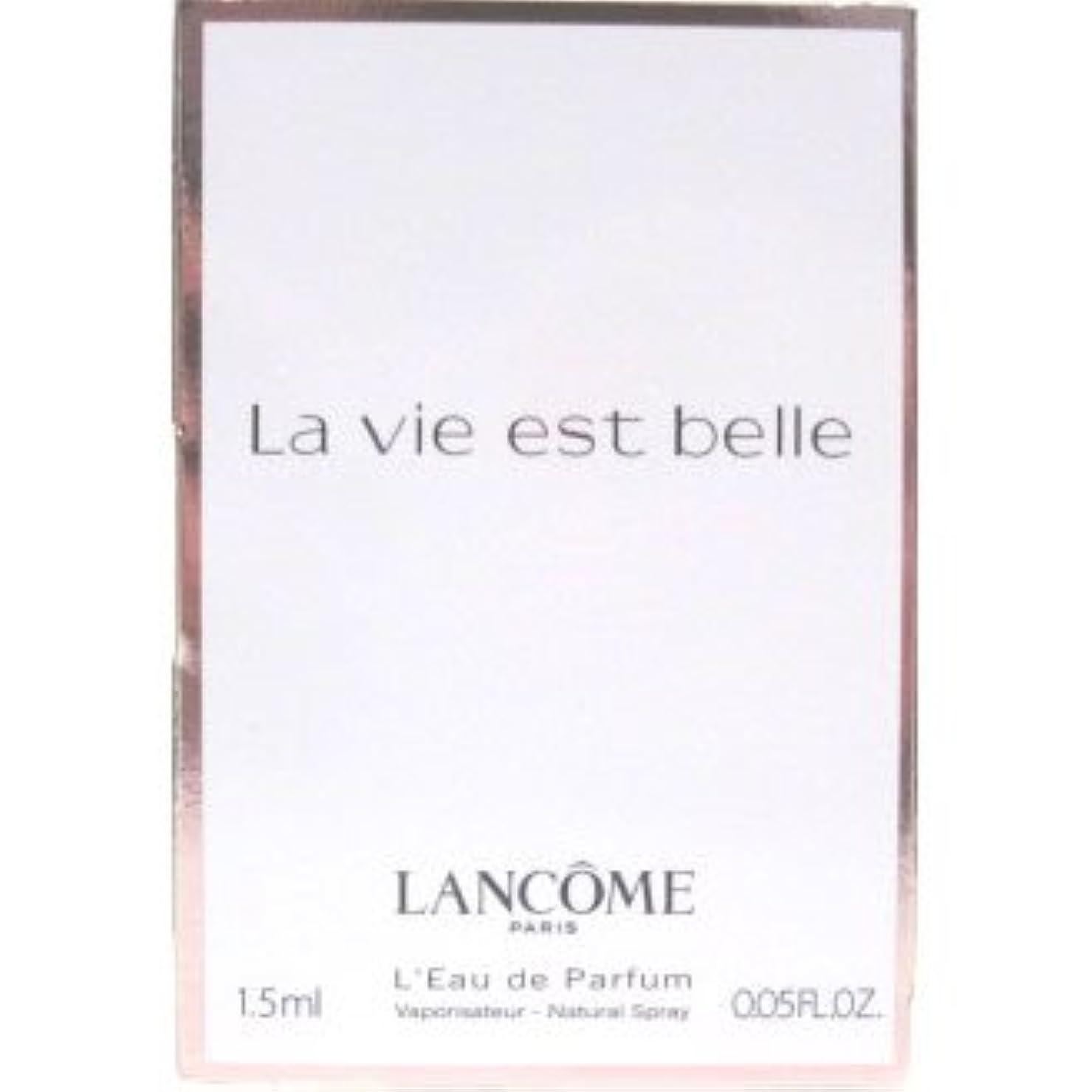 はぁギャンブルとランコム ラ ヴィエベル オードパルファム 1.2ml LANCOME LA VIE EST BELLE EDP [3536]