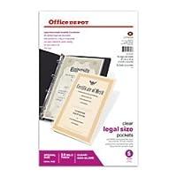 Office Depot法的シートプロテクター、Heavyweight、81/入れ物X 14で。、5のnon-glare、クリア、ボックス、534678