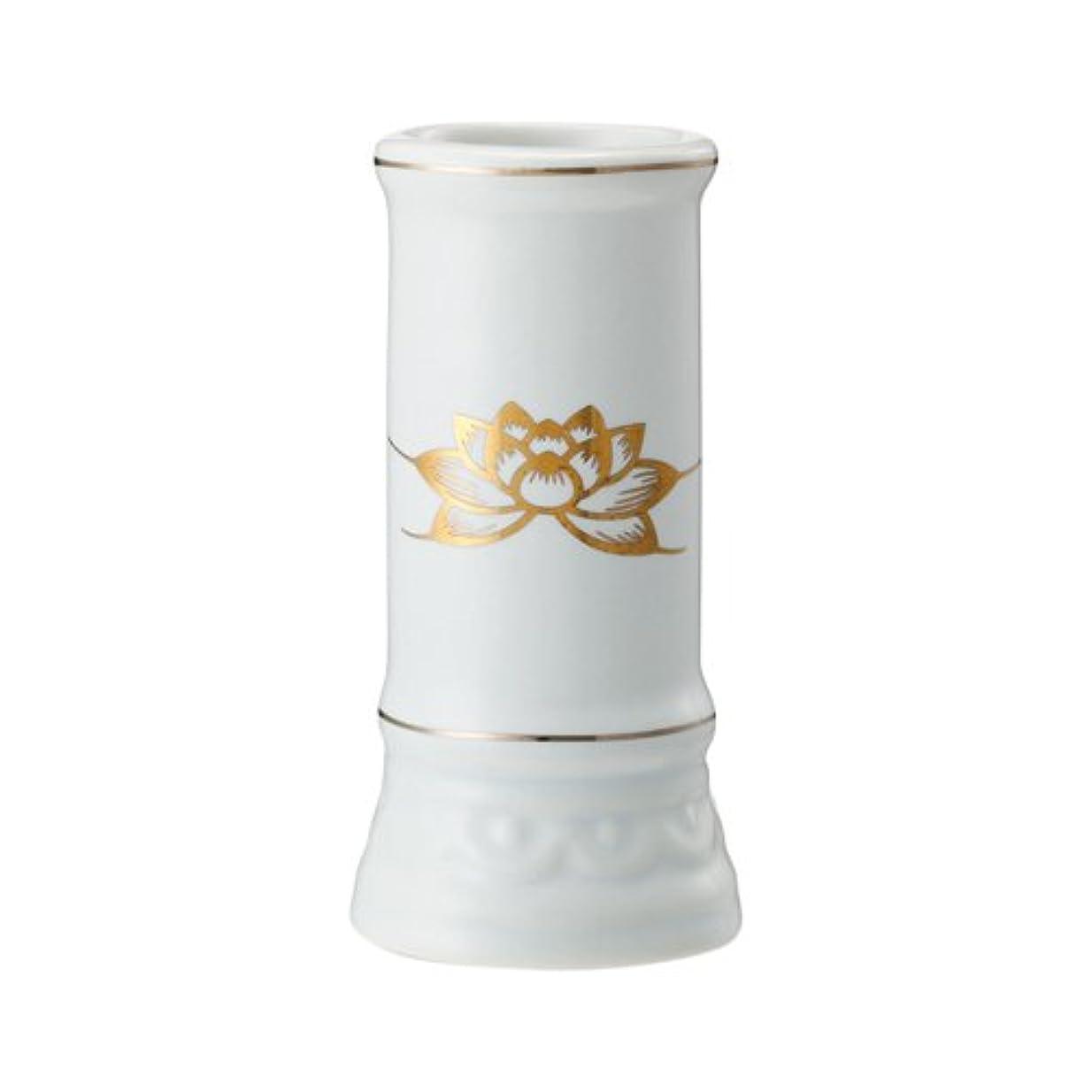 服専門知識パッド日本香堂 線香立て ミニ陶器白磁