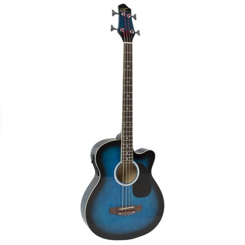 425 Electric Acoustic Bass Guitar Blue Solid Wood Construction With Equalizer エレクトリック アコースティックベース ギター Best Choice Products社【並行輸入】
