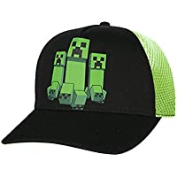 Vanilla Underground Minecraft Creeper Mesh Hat Boys/Youth Baseball Cap