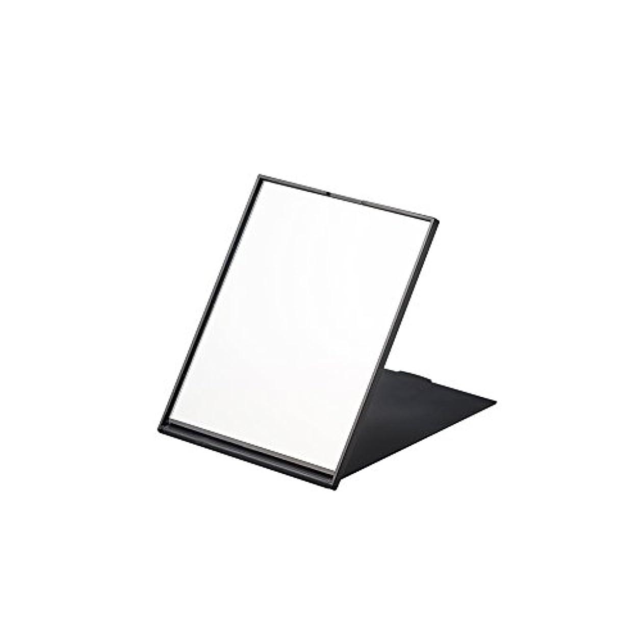 消える道を作る写真を撮るナピュアミラー スリム&ライトコンパクトナピュアミラーM ブラック AM-006BK