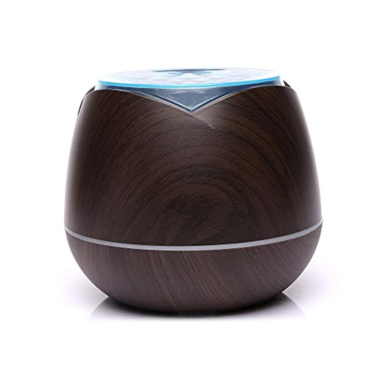 改革永遠の移行涼しい霧の空気加湿器、家、ヨガ、オフィス、鉱泉、寝室のために変わる色LEDライトと超音波400ml - 木目 - (Color : Dark wood grain)