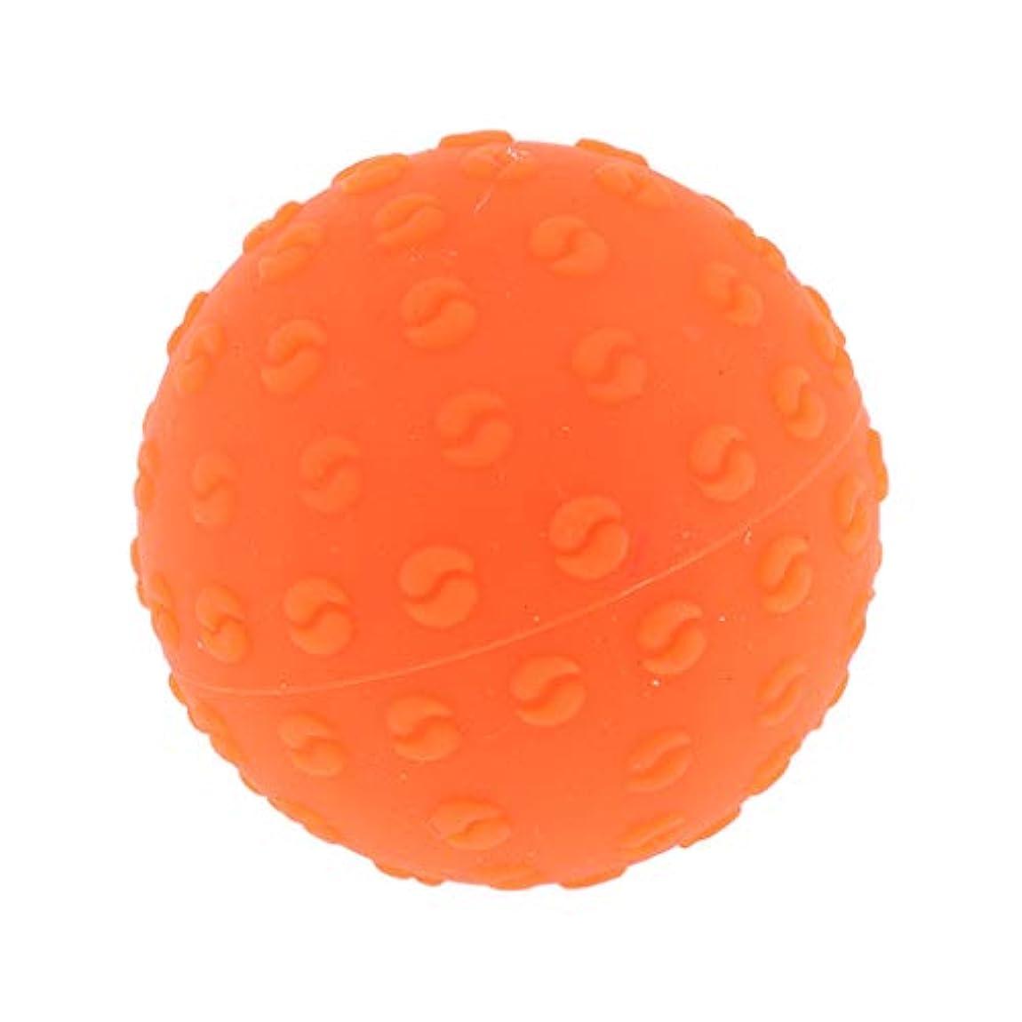 嘆く異議右全6色 シリコーンマッサージボール 指圧ボール トリガーポイント ヨガ 肩、足、首、腕 解消 耐摩耗 - オレンジ, 説明のとおり
