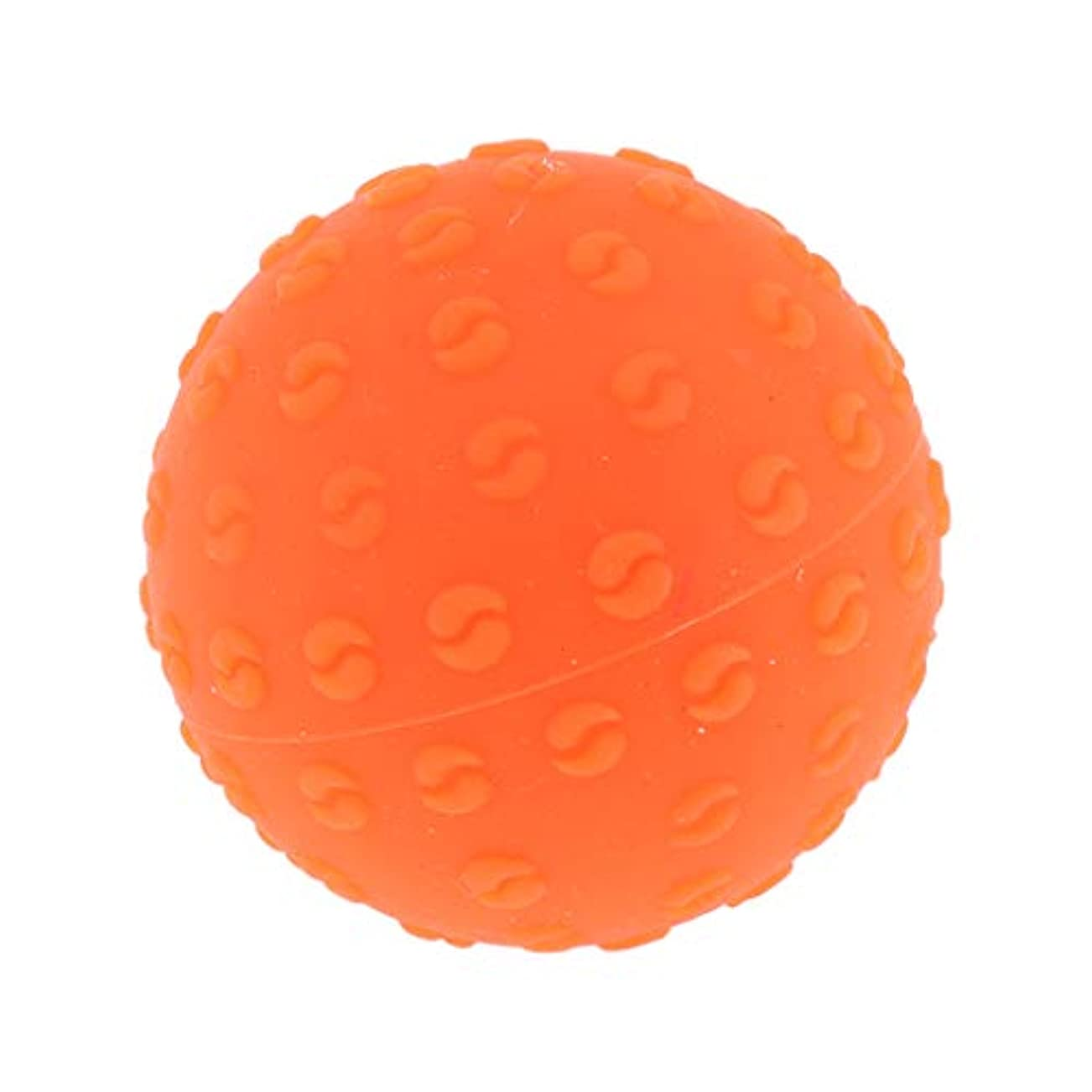Perfeclan 全6色 マッサージボール 指圧ボール シリコーン トリガーポイント 足底筋膜炎 ヨガ 耐油性 快適 - オレンジ, 説明のとおり
