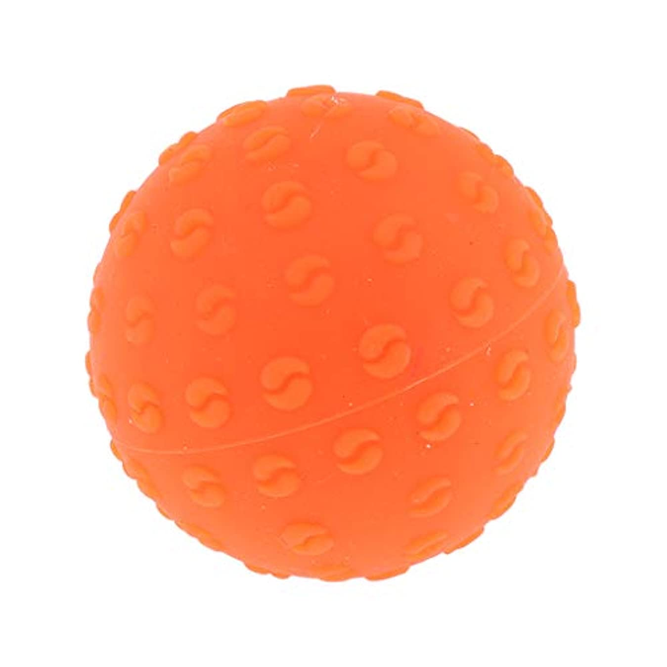子供達湾柱FLAMEER 全6色 シリコーンマッサージボール 指圧ボール トリガーポイント ヨガ 肩、足、首、腕 解消 耐摩耗 - オレンジ, 説明のとおり