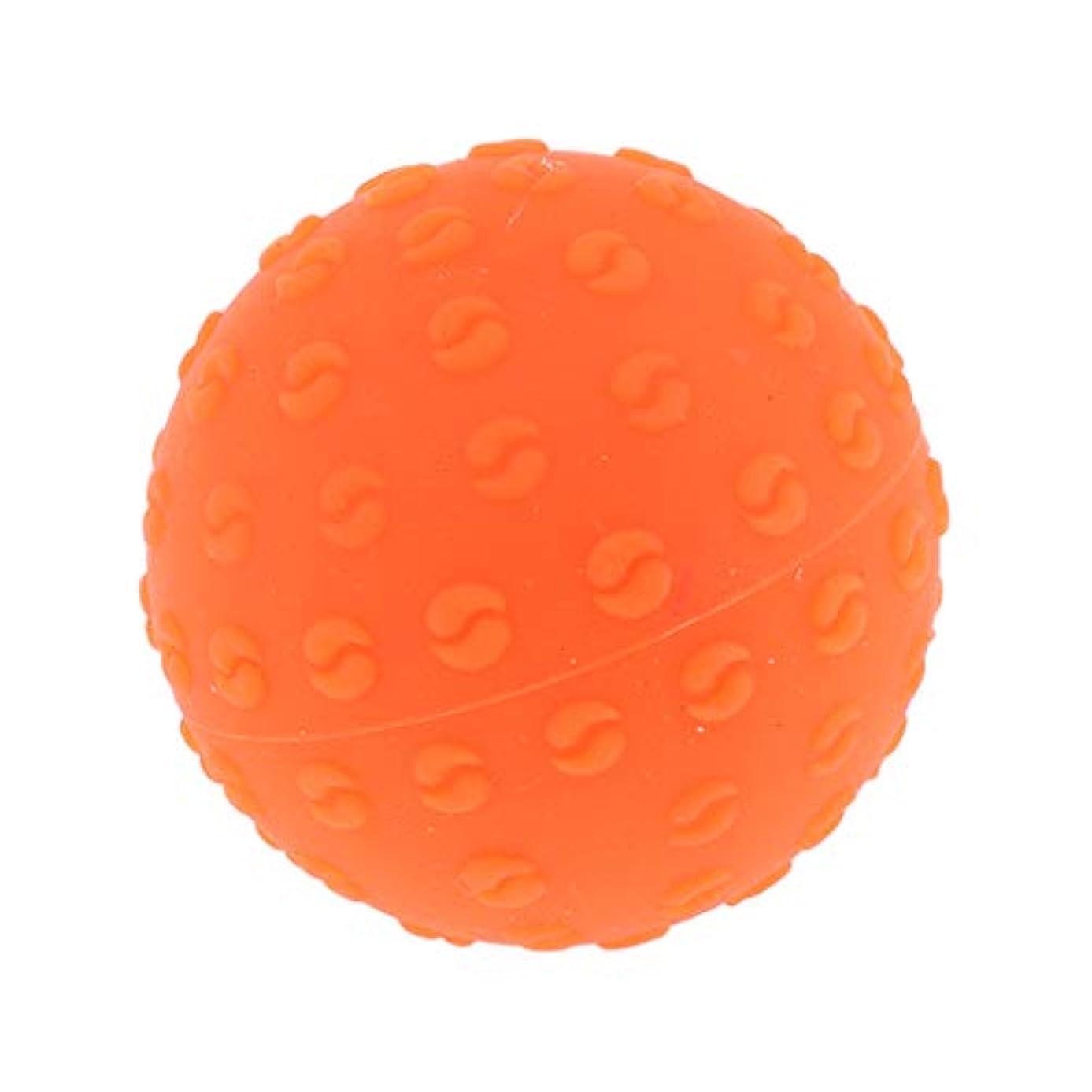 後者ファッション松全6色 シリコーンマッサージボール 指圧ボール トリガーポイント ヨガ 肩、足、首、腕 解消 耐摩耗 - オレンジ, 説明のとおり