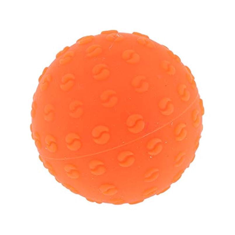 努力おしゃれな有限全6色 シリコーンマッサージボール 指圧ボール トリガーポイント ヨガ 肩、足、首、腕 解消 耐摩耗 - オレンジ, 説明のとおり