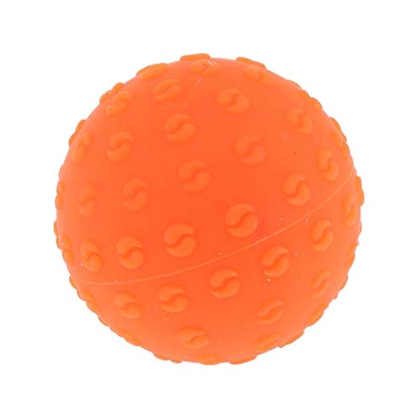幻滅する作物落とし穴全6色 シリコーンマッサージボール 指圧ボール トリガーポイント ヨガ 肩、足、首、腕 解消 耐摩耗 - オレンジ, 説明のとおり
