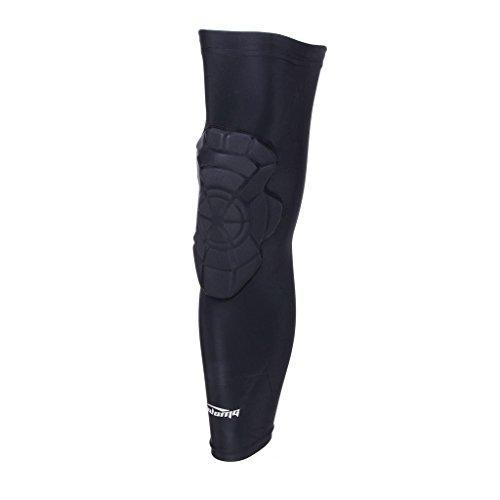 (クールオーエムジー)COOLOMG 片足 膝パッド ニーパッド 膝用 プロテクター スポーツ 作業用 衝撃吸収 膝 関節 保護 ブラック L