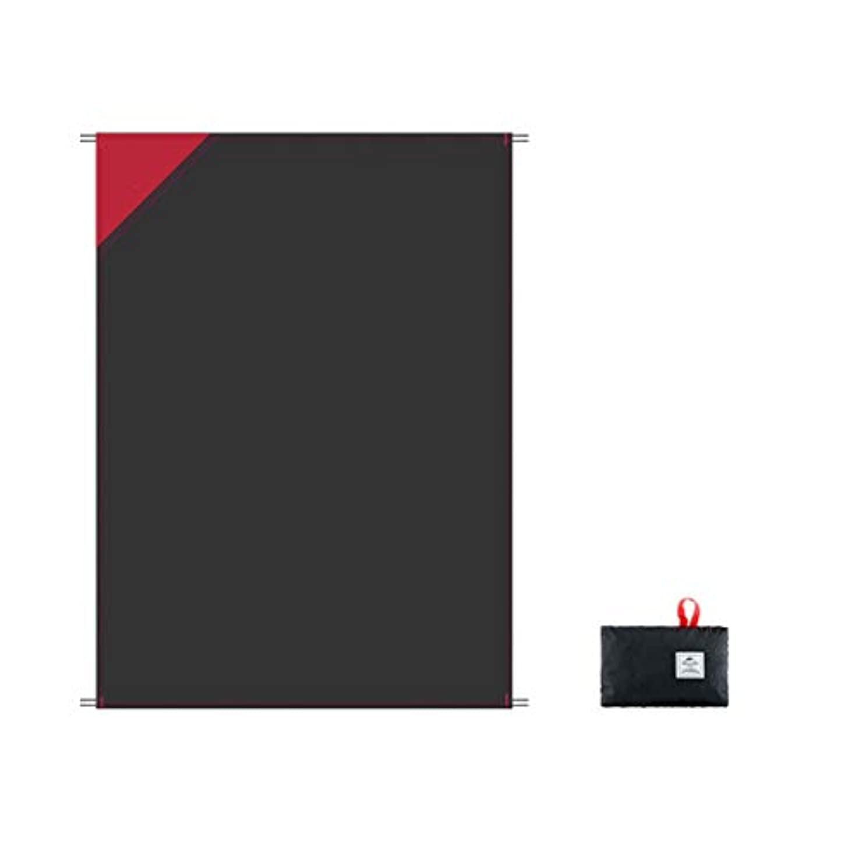 捨てる安息弁護便利なビーチマット 屋外の多機能の軽量の折るキャンプのキャンプのマットの防水ピクニック毛布 折りたたみ式とポータブル (Color : Black, サイズ : 120*70cm)