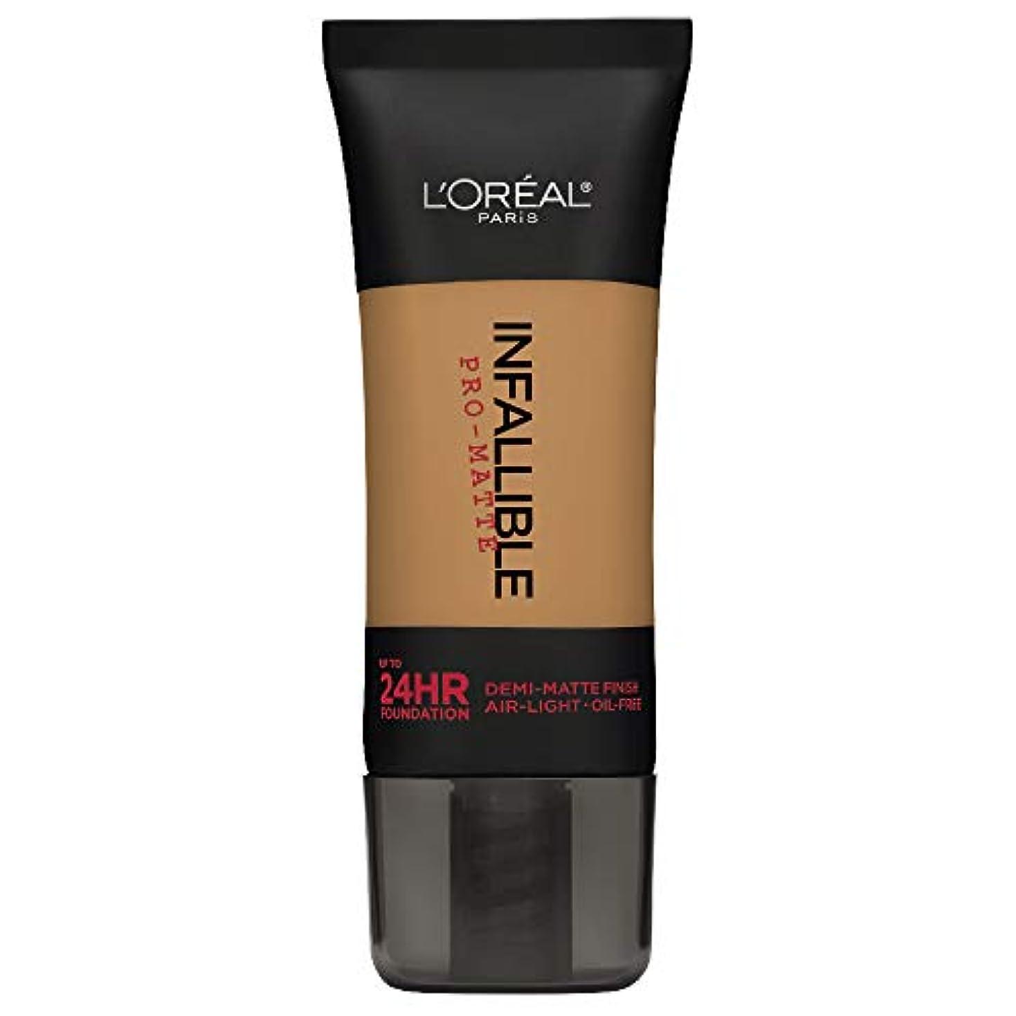 主導権専ら神秘L'Oreal Paris Infallible Pro-Matte Foundation Makeup, 108 Caramel Beige, 1 fl. oz[並行輸入品]