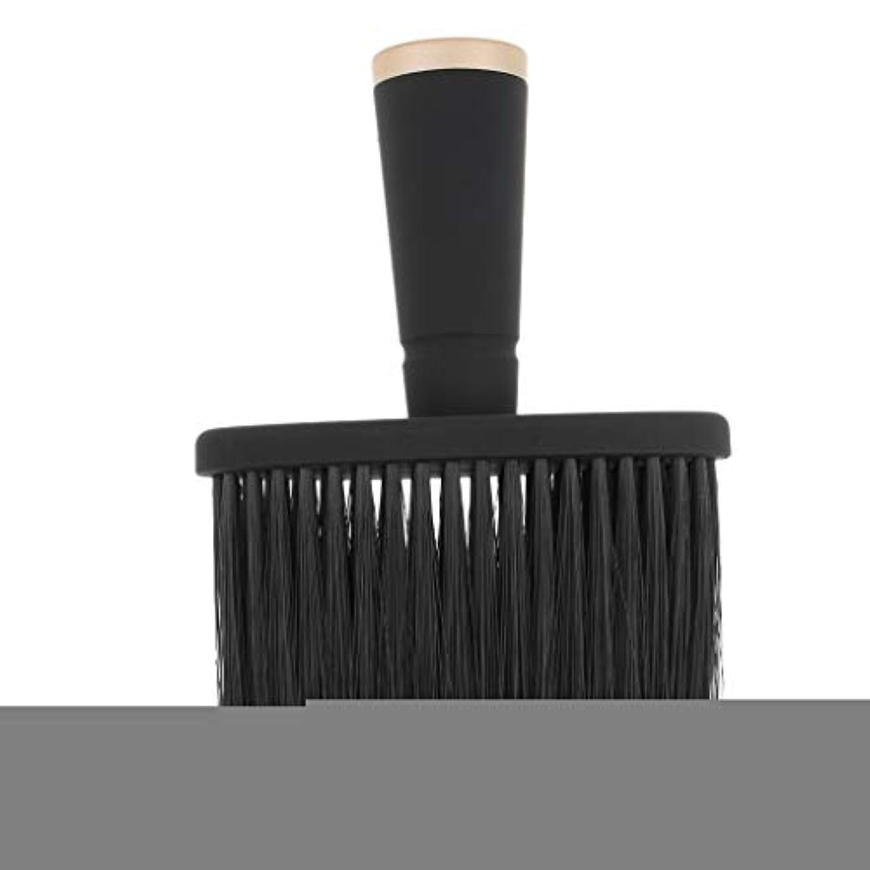 時々時々ケーブルカー師匠Toygogo プロの理髪師の首のダスターのブラシ、毛の切断のための柔らかいクリーニングの表面ブラシ、携帯用設計 - ゴールド