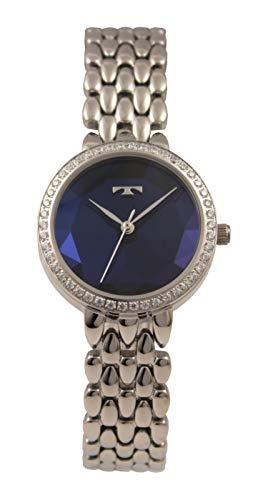82732d9faa0a3d [テクノス]TECHNOS 腕時計 3針 ラインストーン カットガラス T9900SN レディースの画像