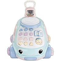Chatter 電話、幼児用 プルアロング おもちゃの電話 数字と音 ドラッグトイ プル 車 おもちゃ 1-3歳 音楽 おもちゃ