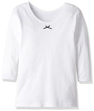(グンゼ) GUNZE キッズ 女児 あったか厚地(部屋干し・抗菌防臭) 綿100% 9分袖シャツ2枚組 AF22B 03 ホワイト 100