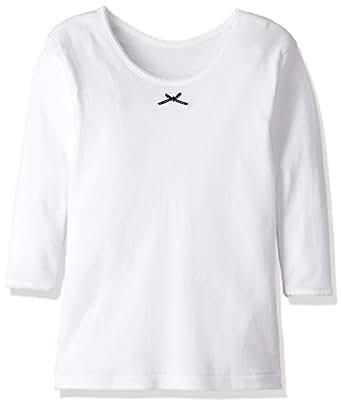 [グンゼ] インナーシャツ あったか厚地 部屋干し・抗菌防臭 綿100% 9分袖 2枚組 AF22B ガールズ ホワイト 日本 100 (日本サイズ100 相当)