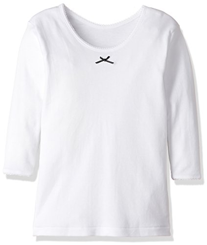 [グンゼ] インナーシャツ あったか厚地 部屋干し・抗菌防臭 綿100% 9分袖 2枚組 AF22B ガールズ