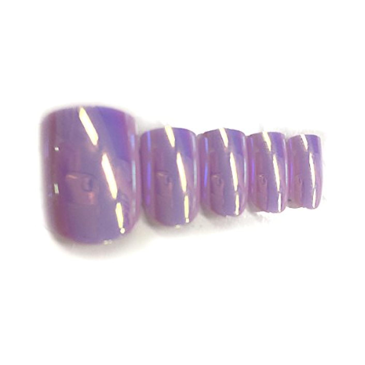 < OMD > Feel soft Nail tip No.6 パステルパープル (84枚入り) [ ペディキュアチップ ペディチップ ペディキュアネイルチップ ミラーチップ 足用ネイルチップ フットネイルチップ 親指...