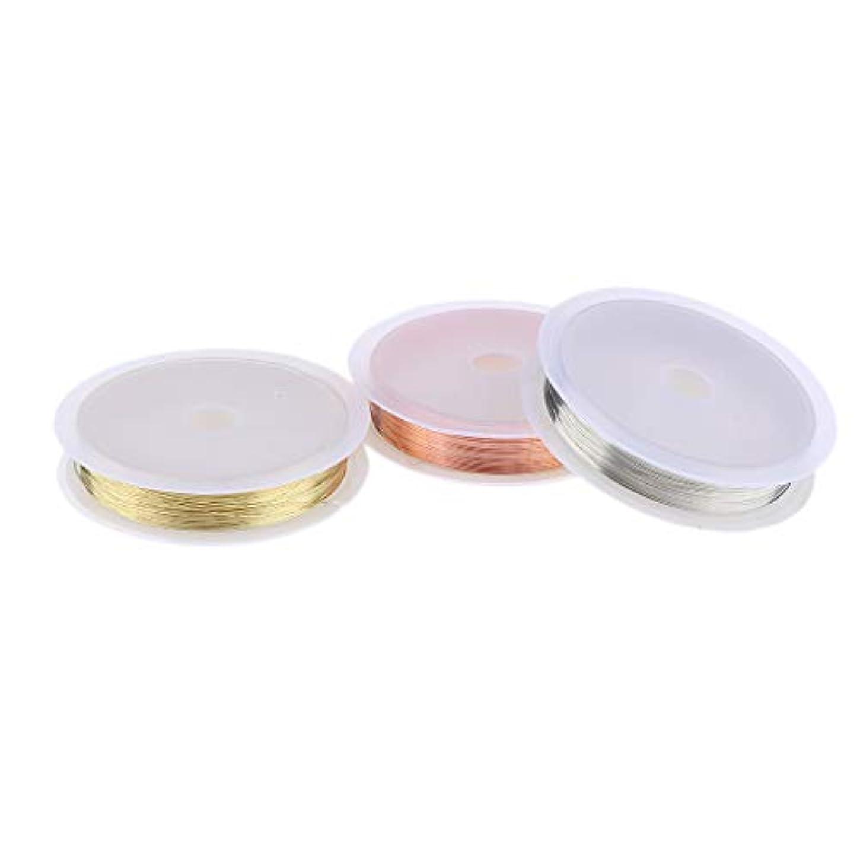 T TOOYFUL 3本のDIY銅ロールストライピングテープライン3Dネイルアートテープネイルデコレーション