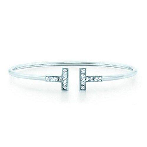 [해외]앙제 리츠코 여성 팔찌 <T 모티브 반짝 반짝 비쥬> 간단한 팔찌 (전 2 색)/Angelico Ladies Bangle <T motif glittering bijou> simple bracelet (all 2 colors)