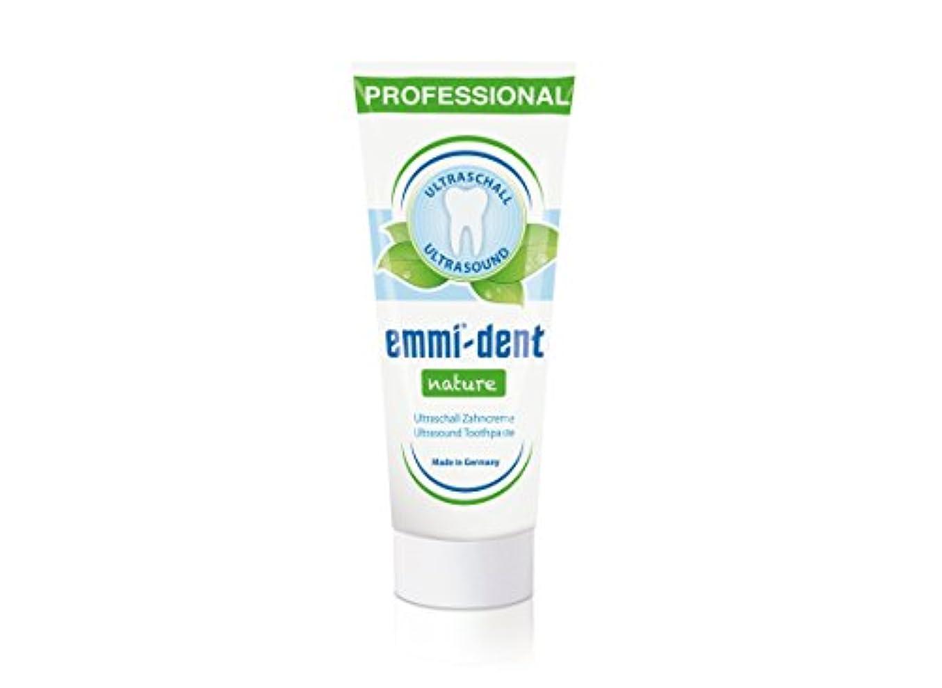 普通の即席離婚Emmi−dent(エミデント) 超音波歯ブラシ専用 歯磨きペースト エミデント ネイチャー 75g