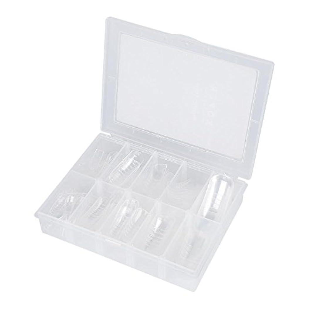 薄める見つける病なネイルチップ - Delaman つけ爪、クリア、透明、120枚入れ