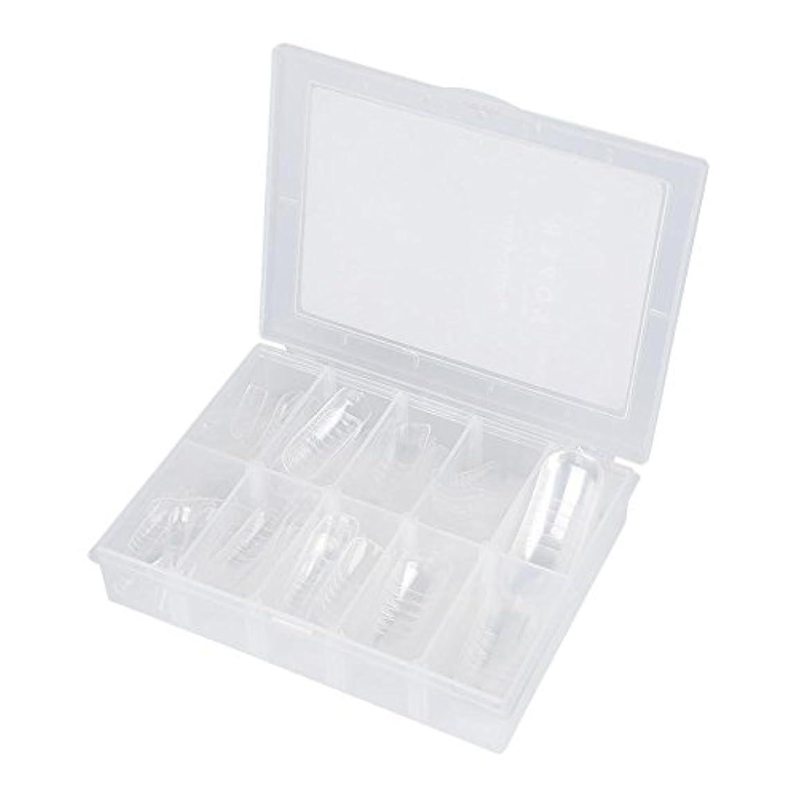 適切にでも牧草地ネイルチップ - Delaman つけ爪、クリア、透明、120枚入れ
