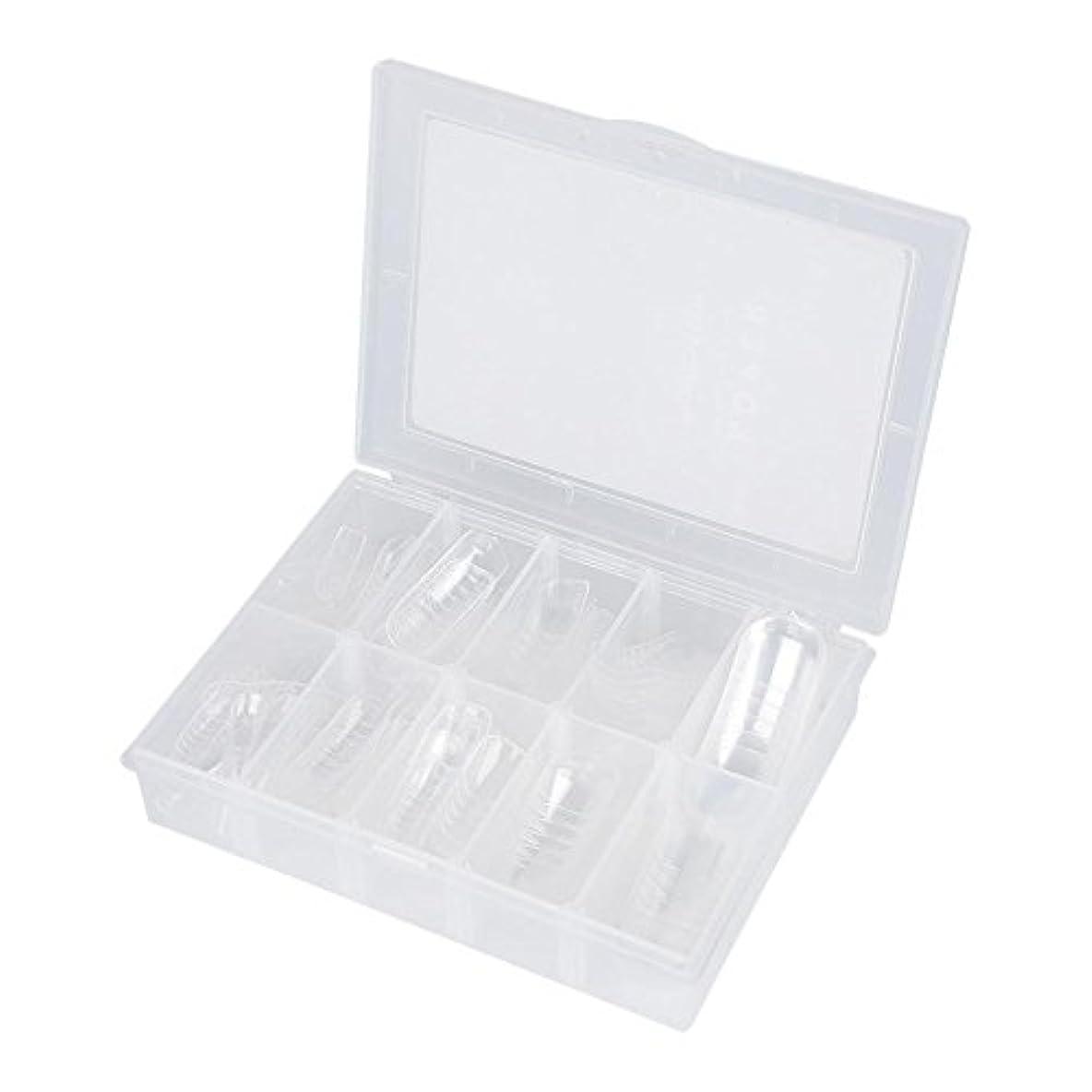抵抗シャンプー反逆ネイルチップ - Delaman つけ爪、クリア、透明、120枚入れ