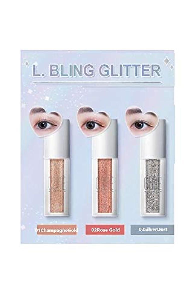 正確などこにも汚物COOD☆ブリング グリッター アイシャドウ 4.5g/全3色 Bling Glitter 3colors[並行輸入品] (01ChampagneGold)