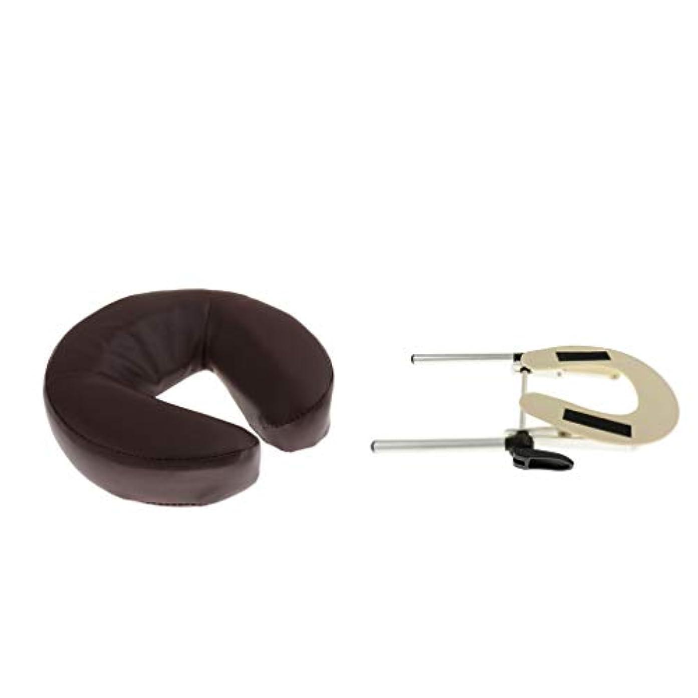 寸法クレーターコードレスdailymall ソフトフェイスダウン枕付きマッサージテーブル用フェイスクレードルピローブラケットホルダー