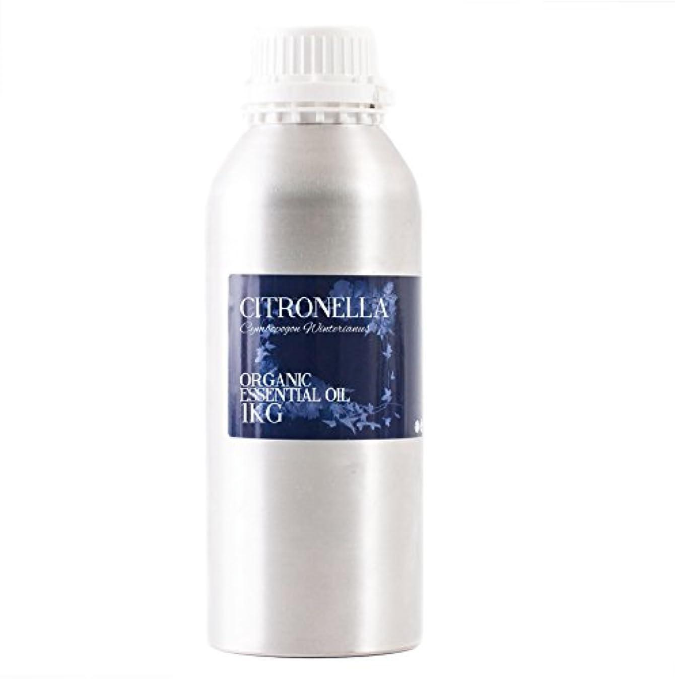 常習者反乱物質Mystic Moments   Citronella Organic Essential Oil - 1Kg - 100% Pure