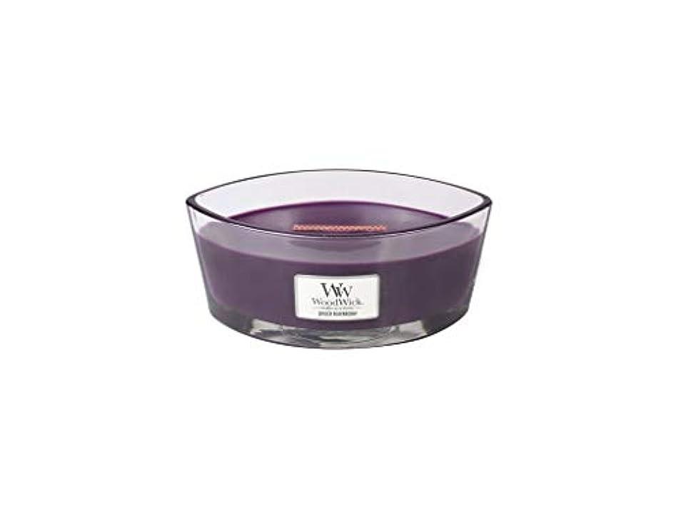 受けるセラー絶望Spiced Blackberry – WoodWick 10oz Medium Jar Candle Burns 100時間