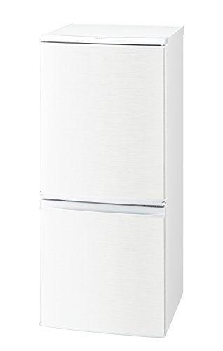 シャープ 冷蔵庫 小型 2ドア つけかえどっちもドア 137L ホワイト SJ-D14C-W