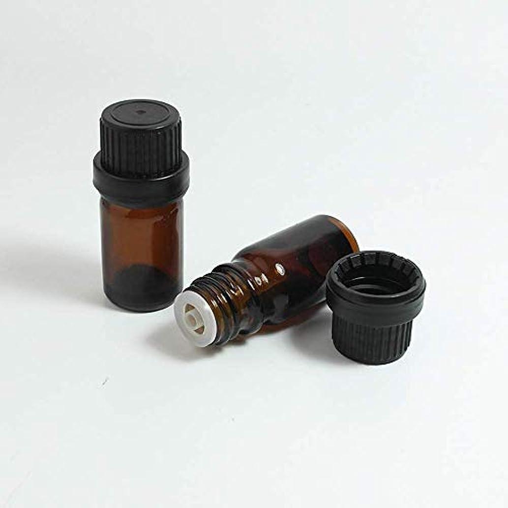 サンプル塩突然Simg アロマオイル 精油 遮光瓶 セット ガラス製 エッセンシャルオイル 保存用 保存容器詰め替え 茶色 10ml 5本セット