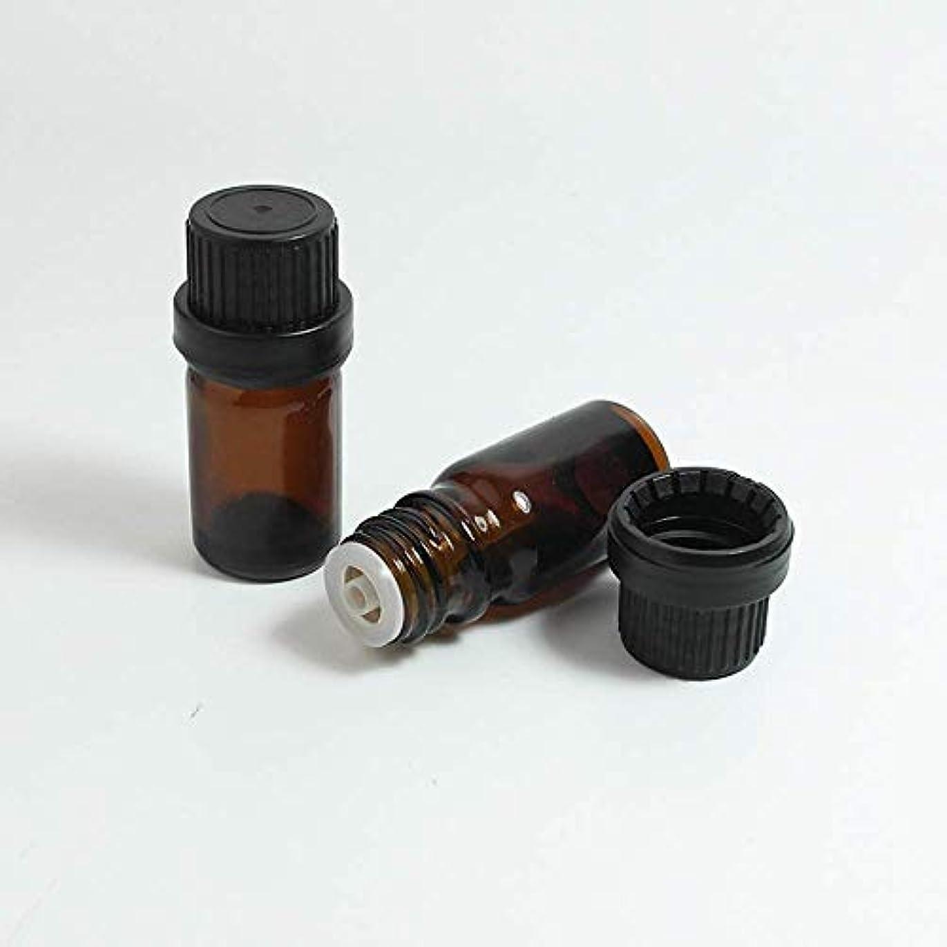 やけど性差別クラッシュSimg アロマオイル 精油 遮光瓶 セット ガラス製 エッセンシャルオイル 保存用 保存容器詰め替え 茶色 10ml 5本セット
