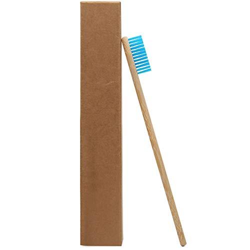 Yutner 1つのPCブルーヘッド竹歯ブラシ卸売環境木製ブ...