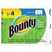 Bounty 2層select-a-size紙タオル、11x 515/16in、ホワイト、3Big Rolls 1パック、カートンの8パック