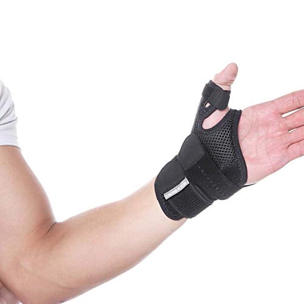 ポーク抑圧するそこ関節炎サムスプリント - 痛み、捻挫、株、関節炎、手根管&トリガー親指固定用親指スピカサポートブレース - リストストラップ