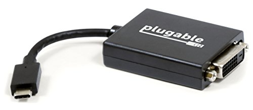 "USB 3.1 Type C(USB-C)– DVI 変換アダプタ、Retina MacBook 12"" 2015/2016、 MacBook Pro 2016/2017、Chromebook Pixel 2015、Dell XPS 2016、Thunderbolt 3 搭載システム等に対応"