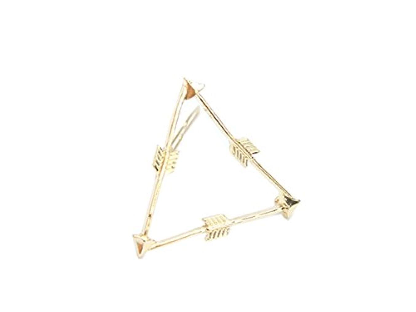 グラス法廷シンプルさOsize 美しいスタイル 弓と矢トライアングルヘアクリップサイドクリップヘアピンヘアアクセサリー(図示)