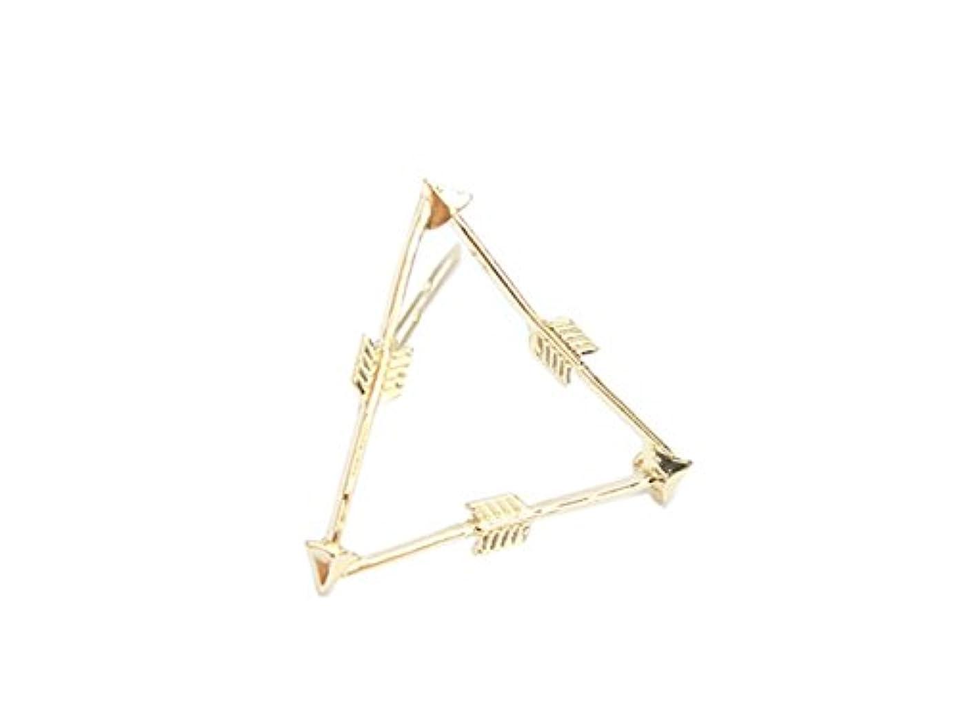 お風呂を持っているアジア意味のあるOsize 美しいスタイル 弓と矢トライアングルヘアクリップサイドクリップヘアピンヘアアクセサリー(図示)