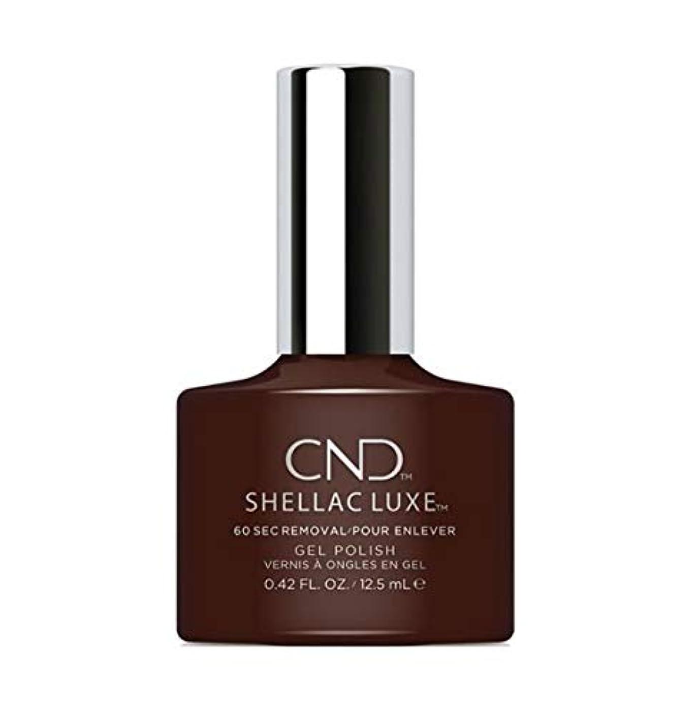レンズブルゴーニュブローホールCND Shellac Luxe - Dark Dahlia - 12.5 ml / 0.42 oz