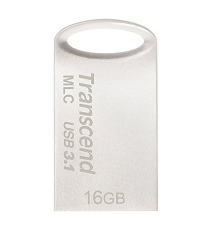 Transcend USBメモリ MLC採用 16GB USB3.1 & USB 3.0 キャップレス シルバー 耐衝撃 防滴 防塵 2年保証 TS16GJF720S
