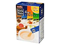名糖産業 スティックメイト 4種のミルクティー 箱5.5g×20P 6箱