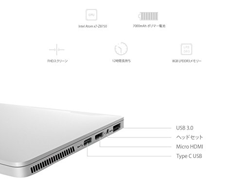 GPD Pocket (Windows10 /7.0inch /IPS液晶 /Intel Atom X7 Z8750) (8GB/128GB)(USB Type-C /USB3.0 /HDMI /Bluetooth4.1) (タッチパネル /Gorilla Glass 3 /Gamepad Tablet PC /UMPC) (銀 /Silver /シルバー)
