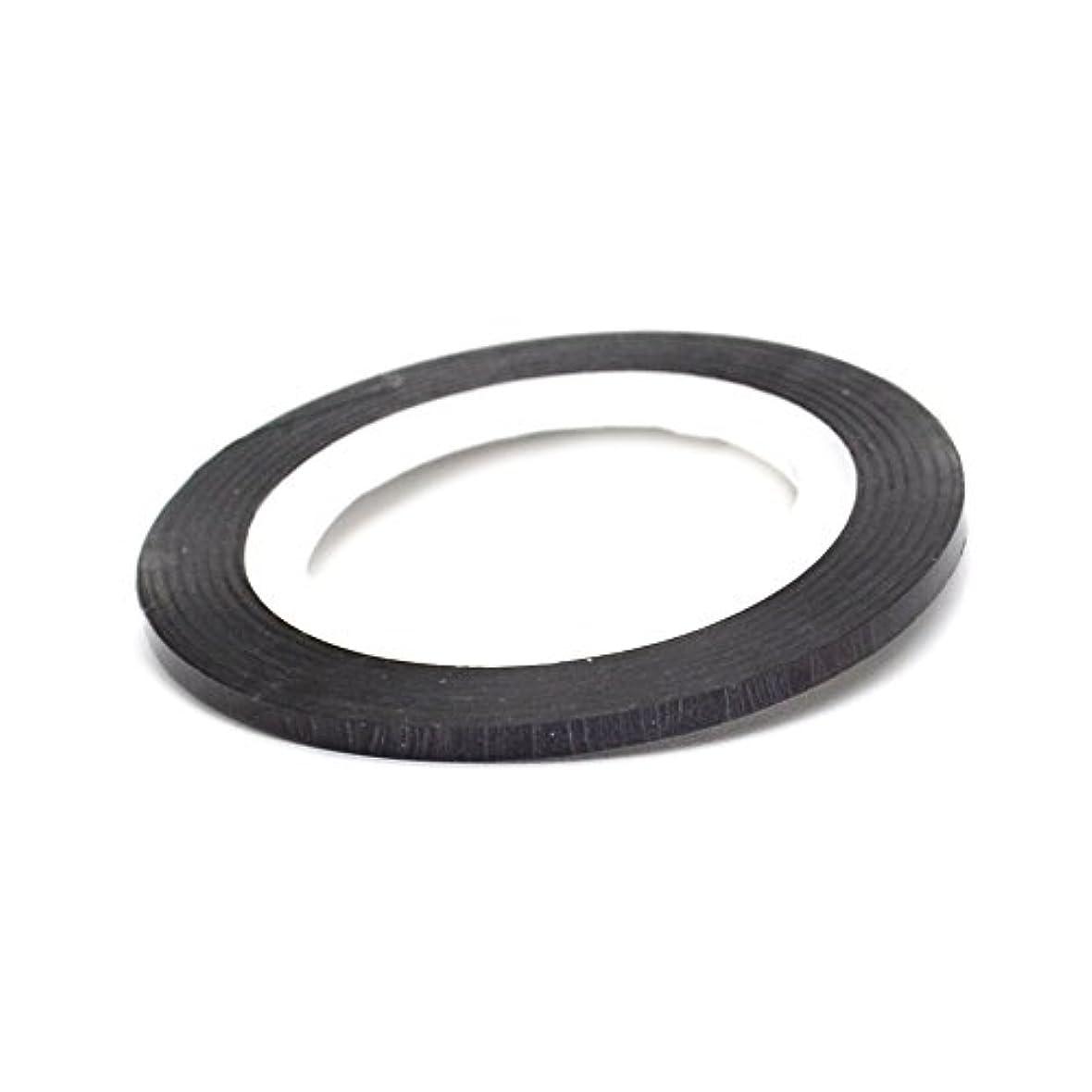 責任者乱暴な戻るネイル ラインテープ【ブラック】0.8mm ストライピングテープ