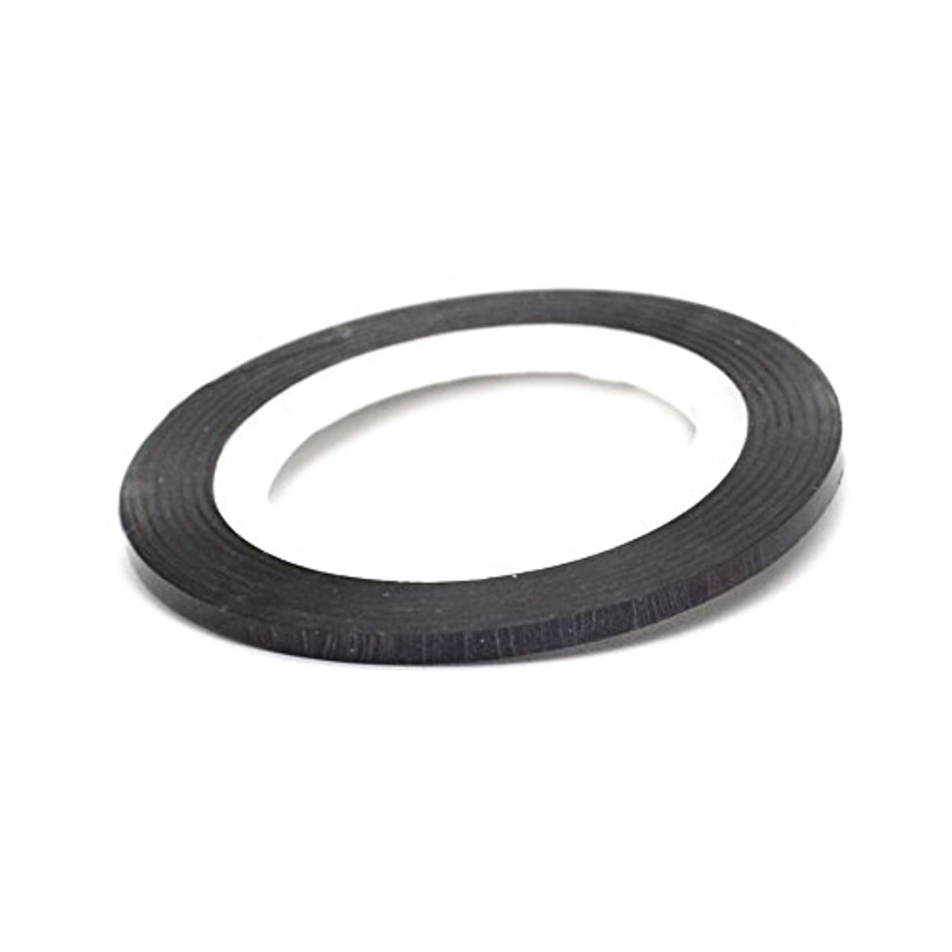 無限閉じ込める受粉者ネイル ラインテープ【ブラック】0.8mm ストライピングテープ